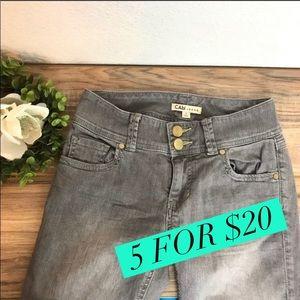 CAbi ✅Lou Lou Gray Wash Slim Straight Jeans Sz 2 for sale